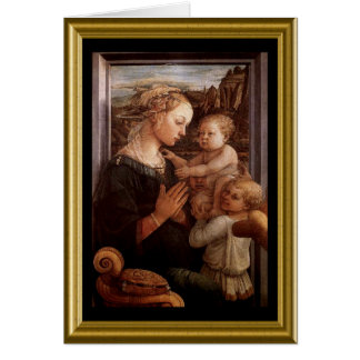 Carte vierge - Madonna et enfant