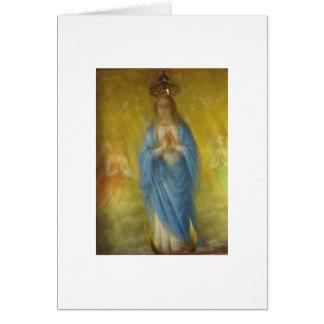 Carte Vierge Marie -   période médiévale