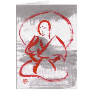 Carte vierge méditante de moine de Shaolin