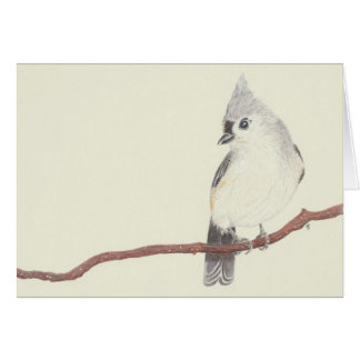 Carte vierge - mésange tuftée