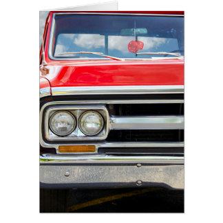 Carte Vieux camion rouge