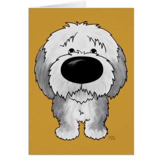 Carte Vieux chiens de berger anglais - grand nez et bout