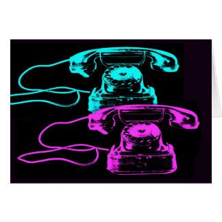 Carte Vieux collage de téléphone
