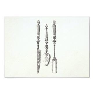 Carte Vieux couverts de 1800s de couteau de fourchette