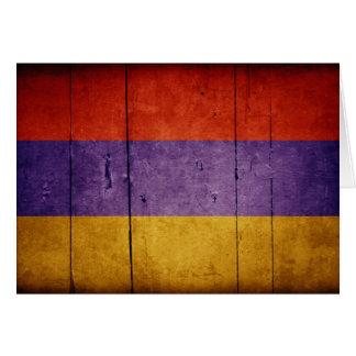 Carte Vieux drapeau en bois de l'Arménie