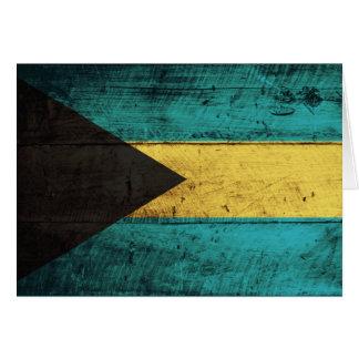 Carte Vieux drapeau en bois des Bahamas