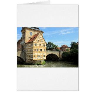 Carte Vieux hôtel de ville, Bamberg, Allemagne, l'Europe