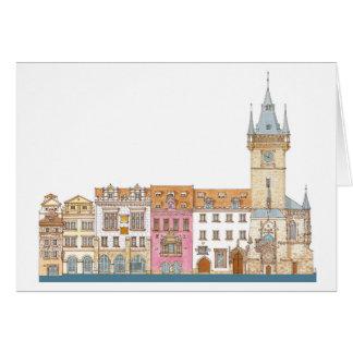 Carte Vieux hôtel de ville. Prague Tchèque