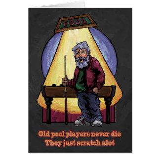 Carte Vieux joueurs de piscine