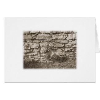 Carte Vieux mur en pierre de jardin. Couleur de sépia