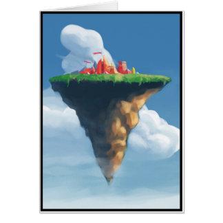 Carte Ville dans les nuages