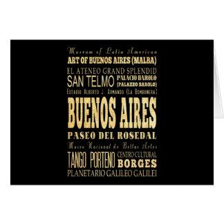 Carte Ville de Buenos Aires d'art de typographie de