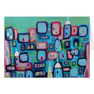 Carte Ville de turquoise