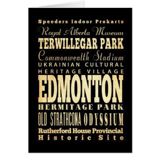 Carte Ville d'Edmonton d'art de typographie du Canada
