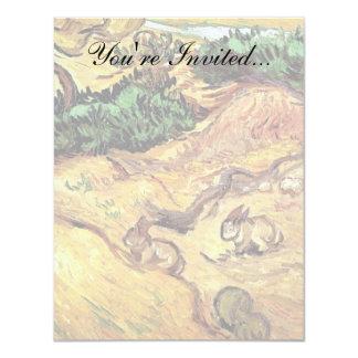 Carte Vincent van Gogh - champ avec des beaux-arts de