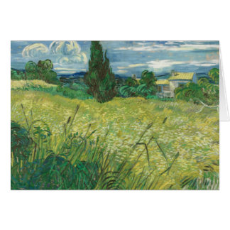 Carte Vincent van Gogh - champ vert