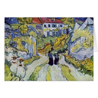 Carte Vincent van Gogh - escalier chez Auvers
