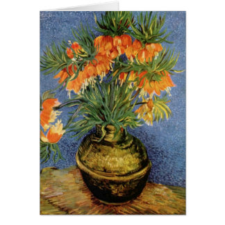 Carte Vincent van Gogh - fritillaires dans un vase de