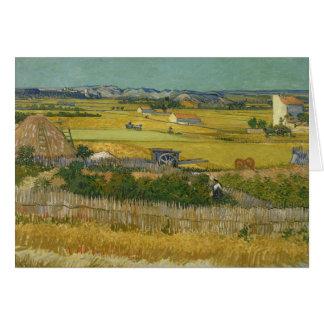 Carte Vincent van Gogh - la récolte