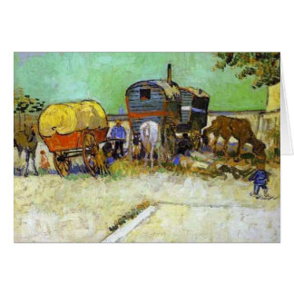 Carte Vincent van gogh- les caravanes - camp gitan près