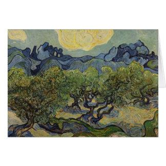 Carte Vincent van Gogh - paysage avec les oliviers