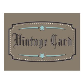 Carte vintage carte postale