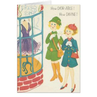 Carte vintage d'achats d'amusement