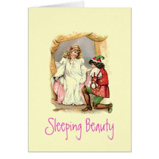 Carte vintage de beauté de sommeil