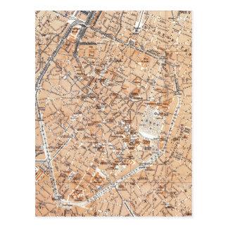 Carte vintage de Bruxelles (1905)