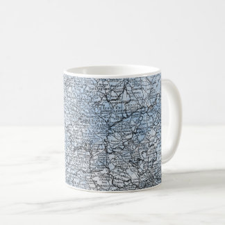 Carte vintage de cadeau du sud de voyage de mug blanc
