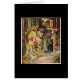 Carte vintage de conte de fées