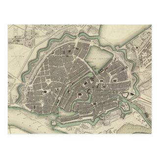 Carte vintage de Hambourg Allemagne (1841)