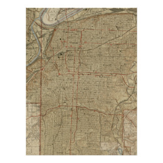 Carte vintage de Kansas City Missouri (1935)