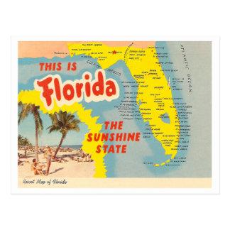 Carte vintage de la Floride Cartes Postales