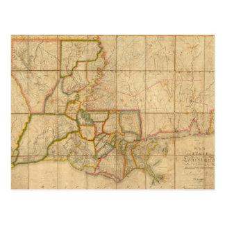 Carte vintage de la Louisiane (1816)