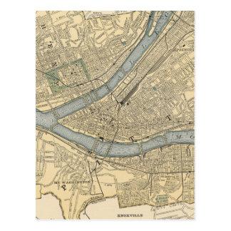 Carte vintage de la PA de Pittsburgh (1891)