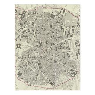 Carte vintage de Madrid Espagne (1831)
