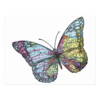 Carte vintage de papillon