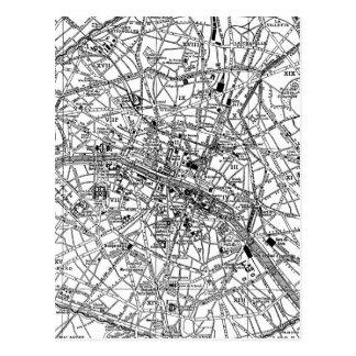Carte vintage de Paris (1911)