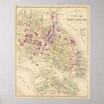 Carte vintage de Portsmouth NH (1892)
