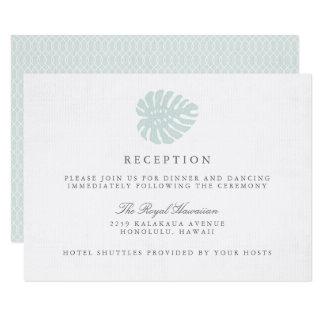 Carte vintage de réception de mariage de tropiques carton d'invitation 8,89 cm x 12,70 cm