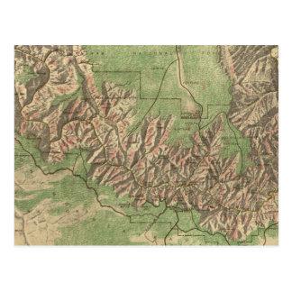 Carte vintage du canyon grand (1926)