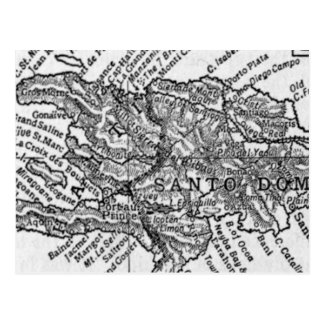 Carte vintage du Haïti (1911)