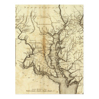 Carte vintage du Maryland (1796)