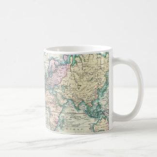 Carte vintage du monde (1801) mug