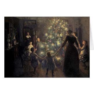 Carte vintage élégante d'arbre de Noël
