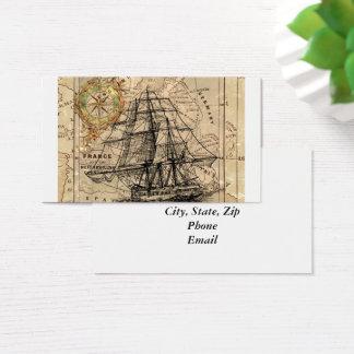 Carte vintage et bateau