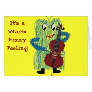 Carte Violoncelle - obtenez un sentiment brouillé chaud