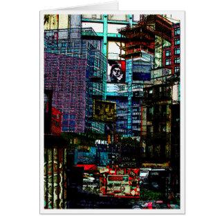 Carte visage de la ville