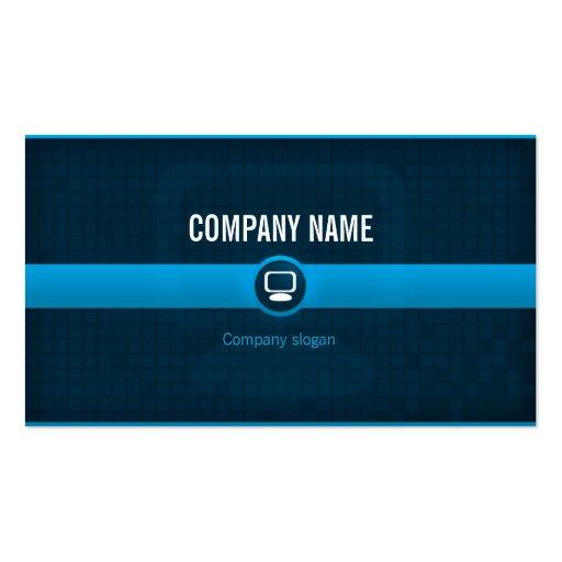 Carte visite - Professionnel informatique bleue v1 Cartes De Visite Personnelles